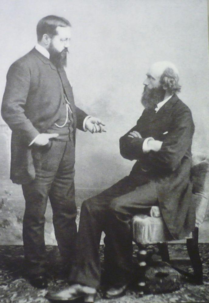Pierre Cuypers (zittend) en Victor de Stuers in gesprek.