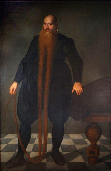 Portret van Pieter Dirckszoon Langbaert, weesmeester met groot hart.