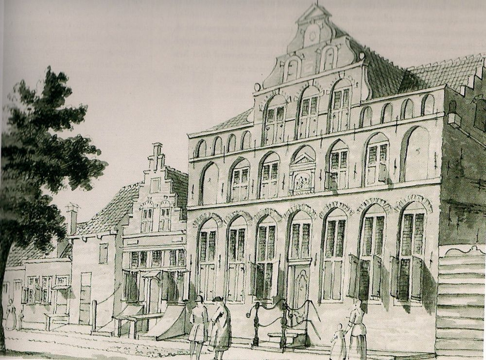 Het oude Weeshuis vóór de verbouwing in 1770.