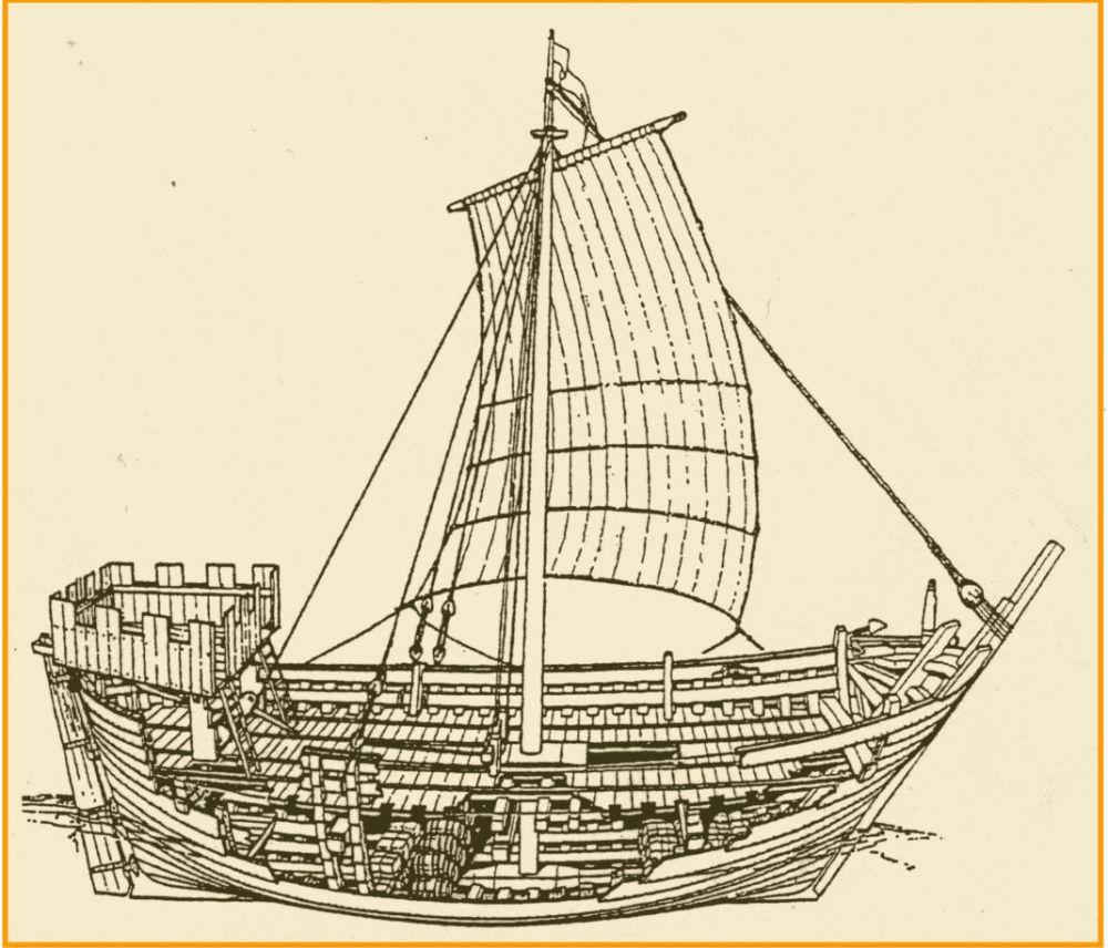 Een koggeschip.