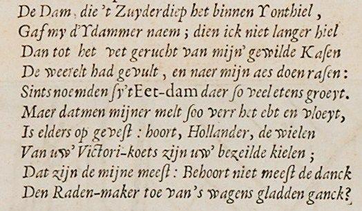 Gedicht van Constantijn Huygens.