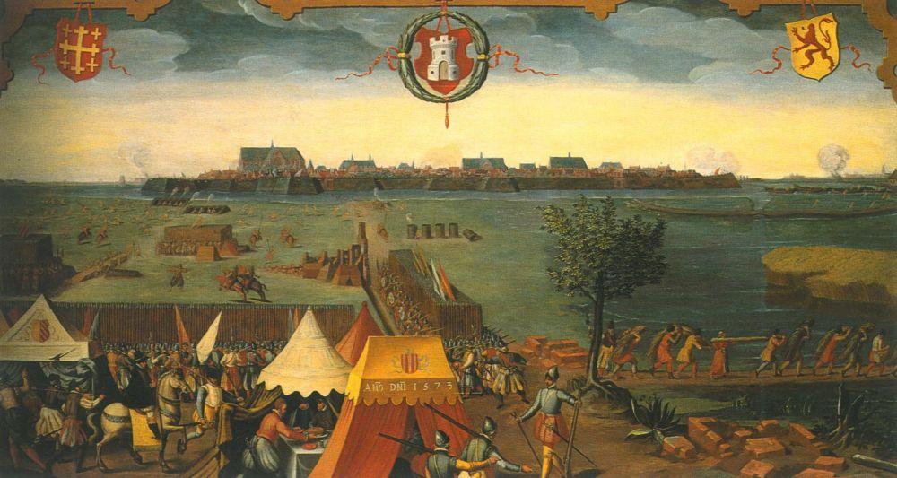 De belegering van Alkmaar gezien vanuit het zuiden.