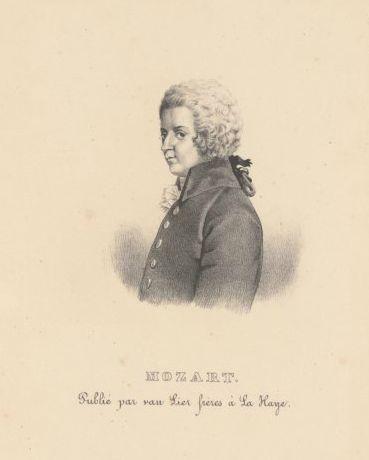 Portret van Mozart