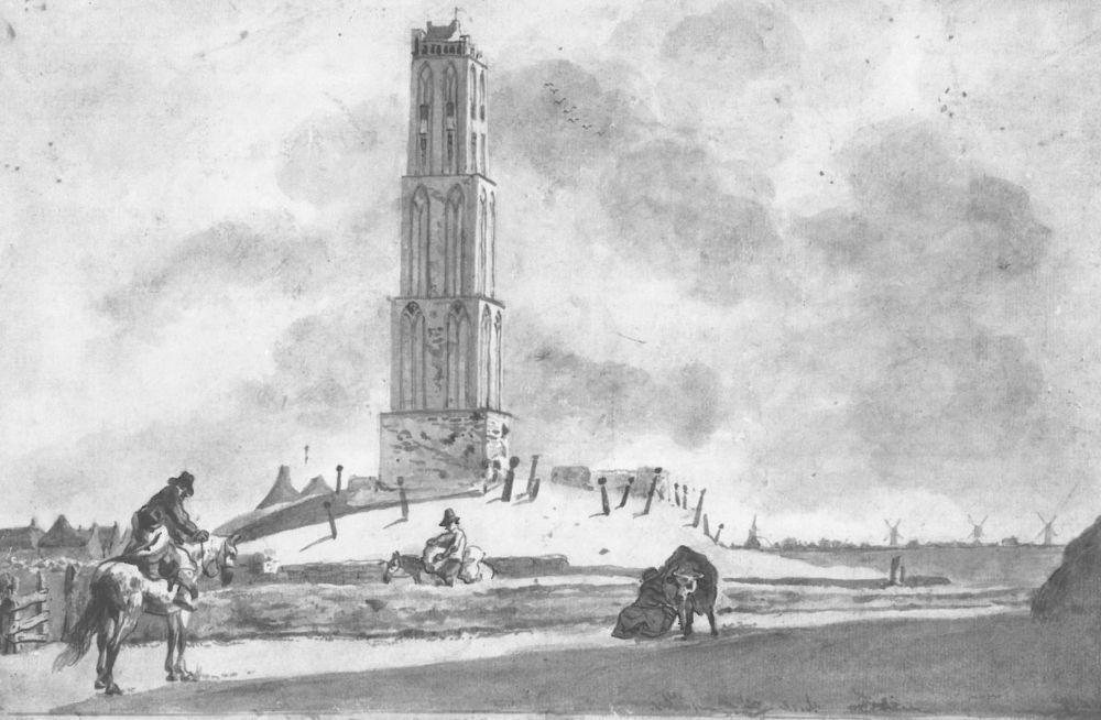 De kerktoren van De Westen.
