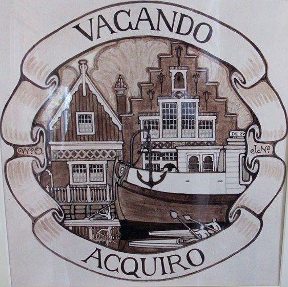 Vacando Acquiro (Al zwervend verwerf ik).