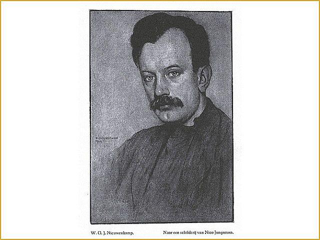 Portret van Nieuwenkamp door Nico Jungmann.