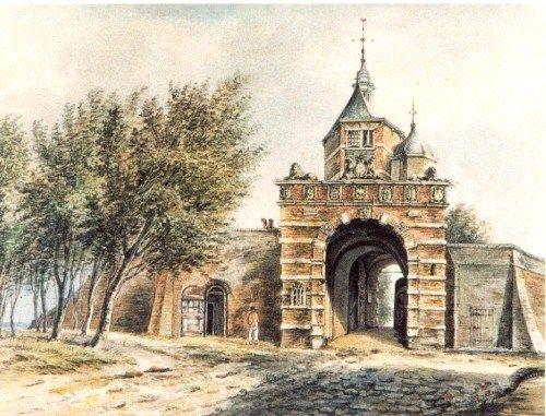 Oosterpoort (aquarel).