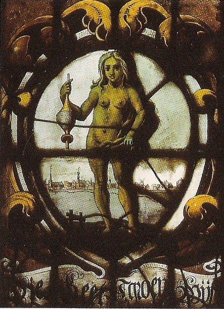 Detail kerkraam Grote Kerk (glas 29).
