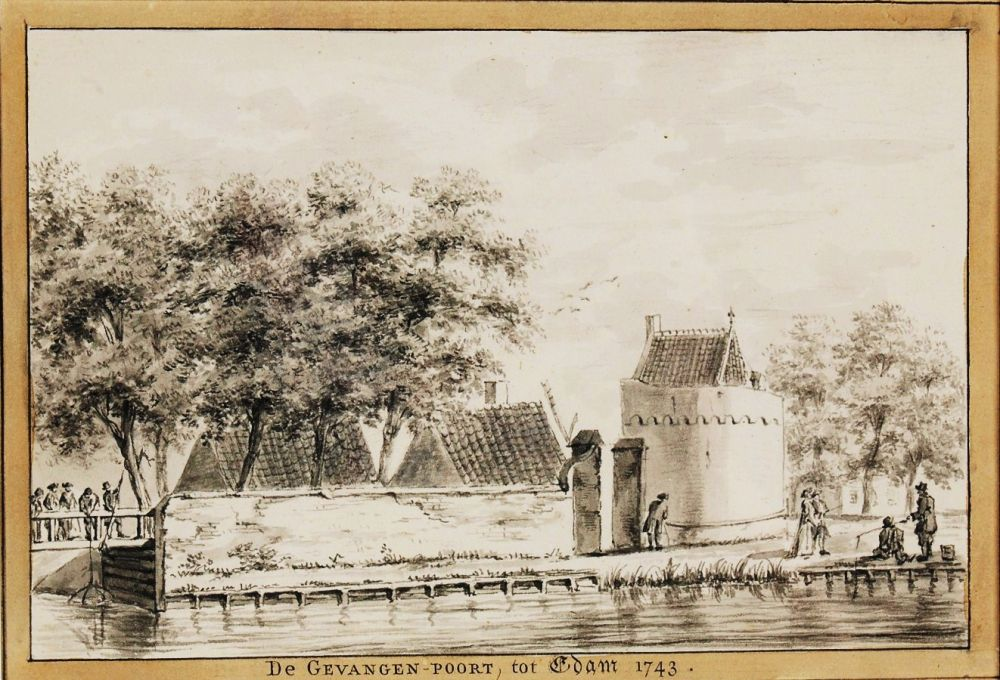 Gevangenpoort (anoniem, naar H. de Winter, 1743).