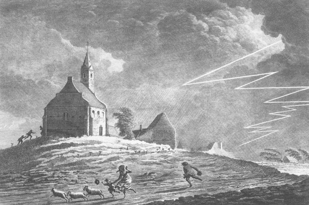 De verdwenen kapel van Stroe in de 18e eeuw.