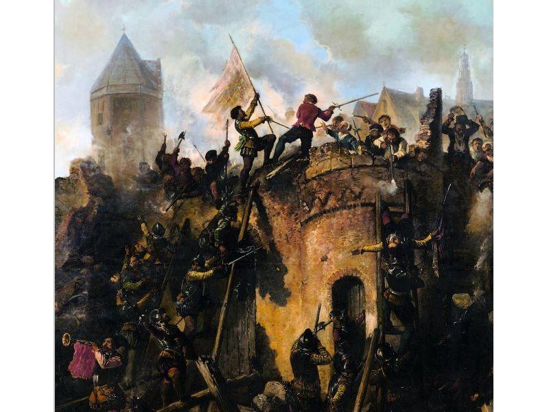 18 september 1573: Spaanse troepen bestormen de stad.