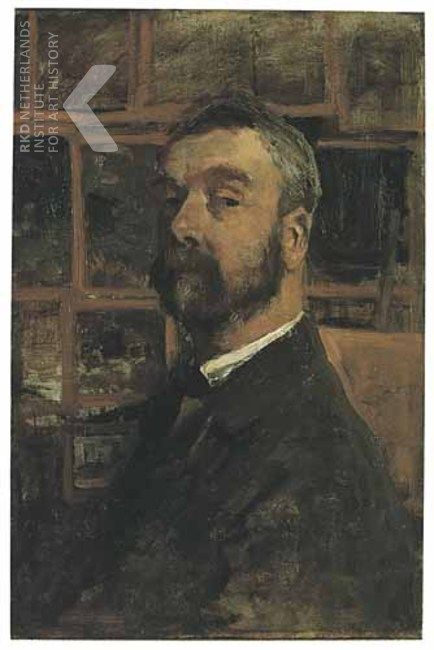 Zelfportret Anton Mauve, 1882-1885
