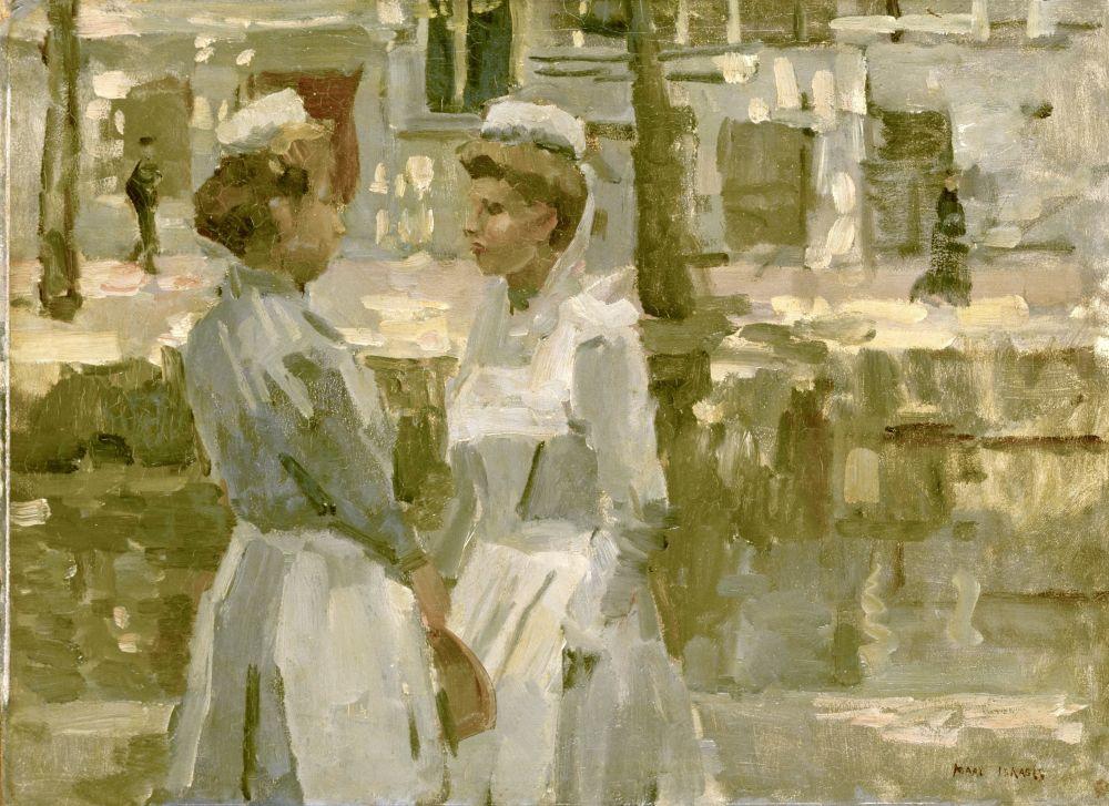 Amsterdamse dienstmeisjes, Isaac Israels, ca 1890, Amsterdam