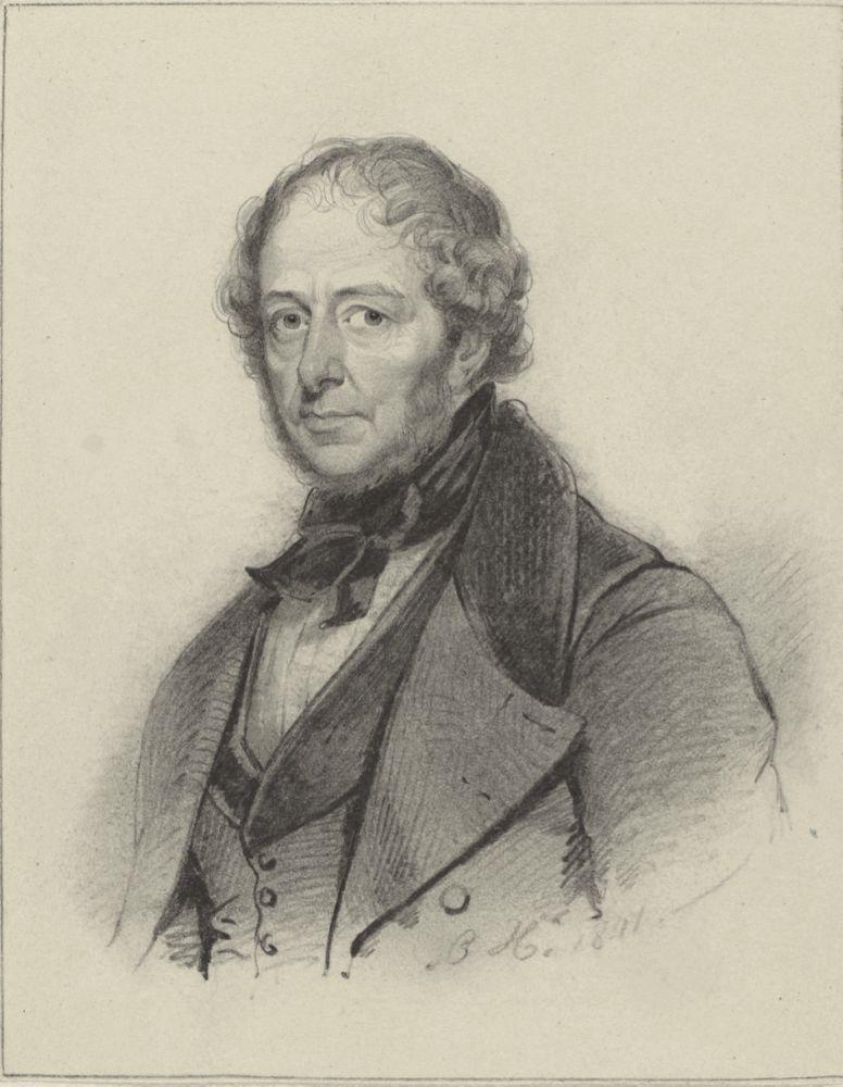 Portret van Johannes Hermanus Barend Koekkoek, Johan Coenraad Hamburger, 1841