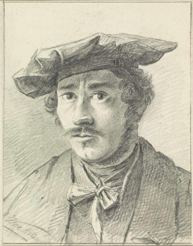 Zelfportret, Marinus Adrianus Koekkoek, (1817-1868)