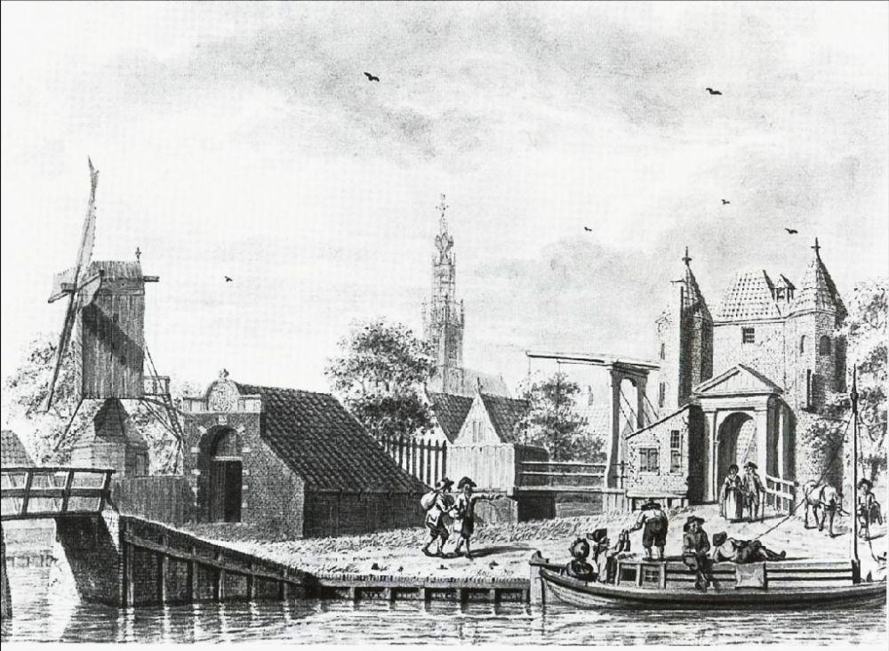 De Purmerpoort (links) en de Monnickendammerpoort.