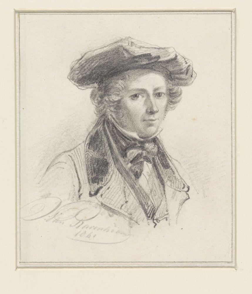 Zelfportret van Jan van Ravenswaay, Jan van Ravenswaay, 1841