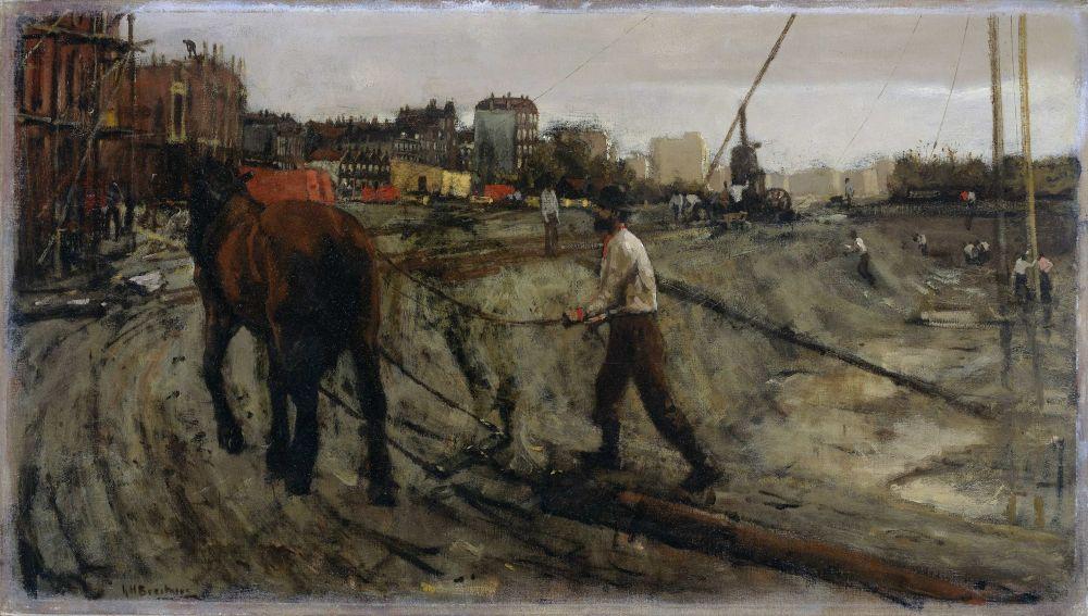 Bouwterrein in Amsterdam, G.H. Breitner, 1880-1923