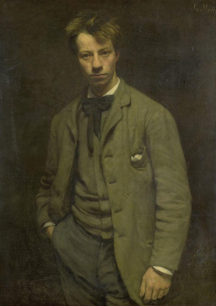 Portret van Albert Verwey, Jan Veth, 1885