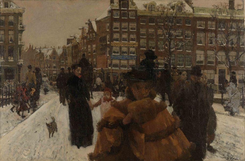 De Singelbrug bij de Paleisstraat, George Hendrik Breitner, 1896
