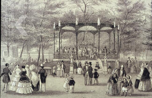 Artis muziekkiosk, 1856.