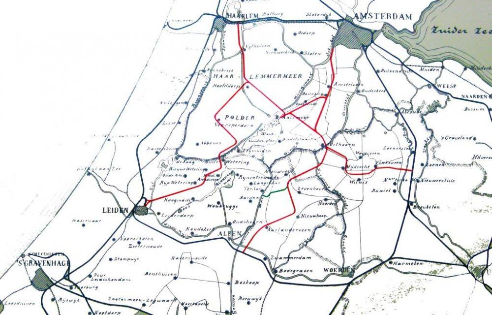Netwerk van de Haarlemmermeerspoorlijnen.