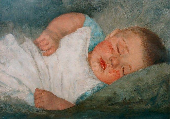 Wally Moes, Slapende baby, © Simonis en Buunk
