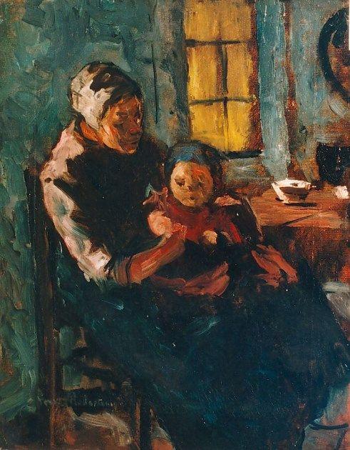 Suze Robertson, Moeder met kind op schoot