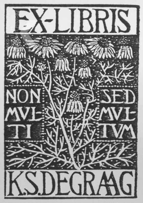 Julie de Graag, Ex-libris K.S. de Graag, 1915