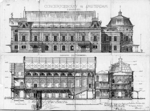 Bouwtekening Concertgebouw.