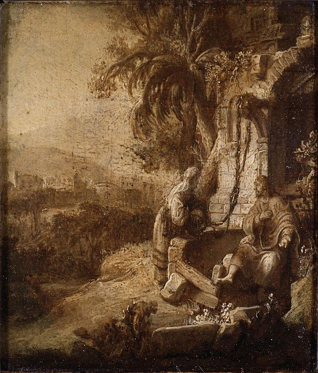 Christus en de Samaritaanse vrouw bij de bron, ca. 1642