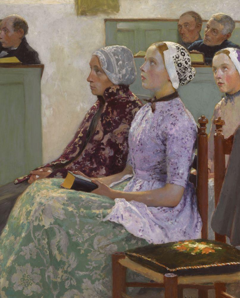Hollandse Meisjes in de Kerk - Gari Melchers (1883-1902)