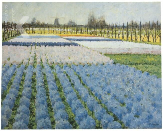 Bollenveld met hyacinten - George Hitchcock