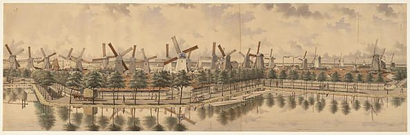 Panorama Buitensingel tussen Raam- en Zaagpoort, 1880