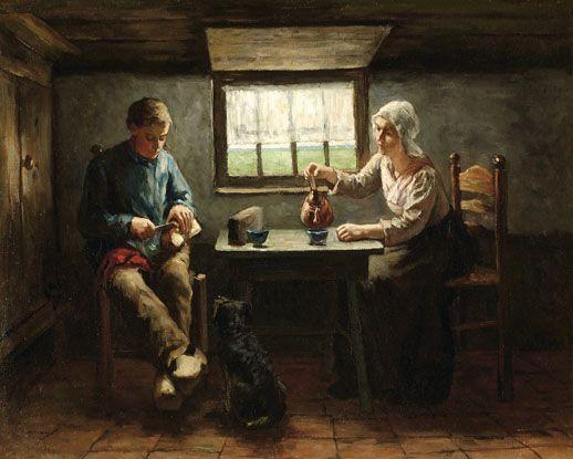 Theetijd, door Hein Kever