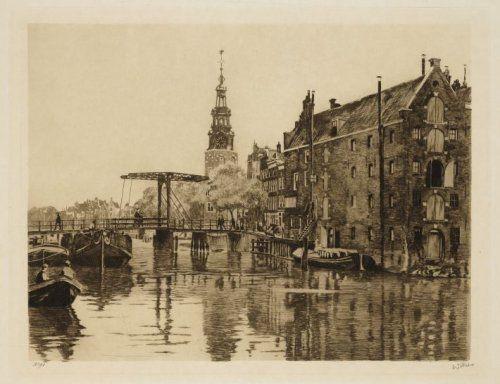 Gezien van de brug voor de Foeliestraat langs het Nieuwegrachtje, Willem Witsen