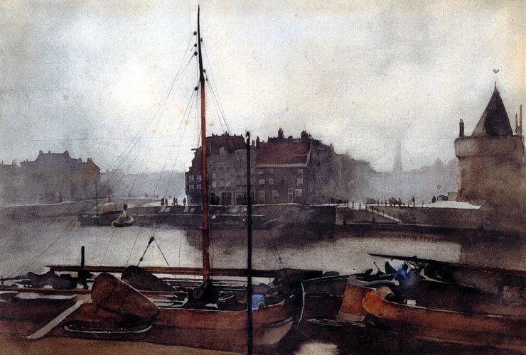 Prins Hendrikkade te Amsterdam, 1891, Willem Witsen