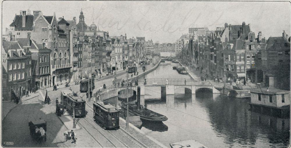 Rokin voor de demping, 1913
