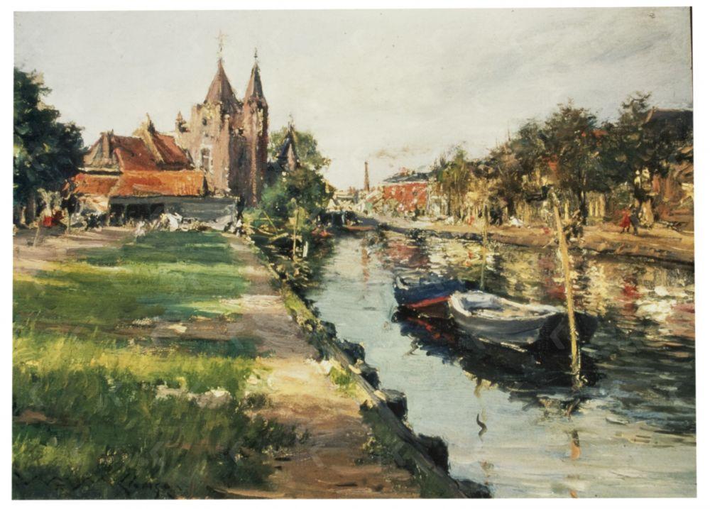 Langs de Vaart, Haarlem, William Merritt Chase