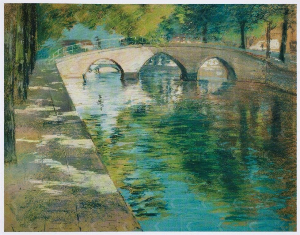 Gezicht op een gracht in Holland, William Merritt Chase