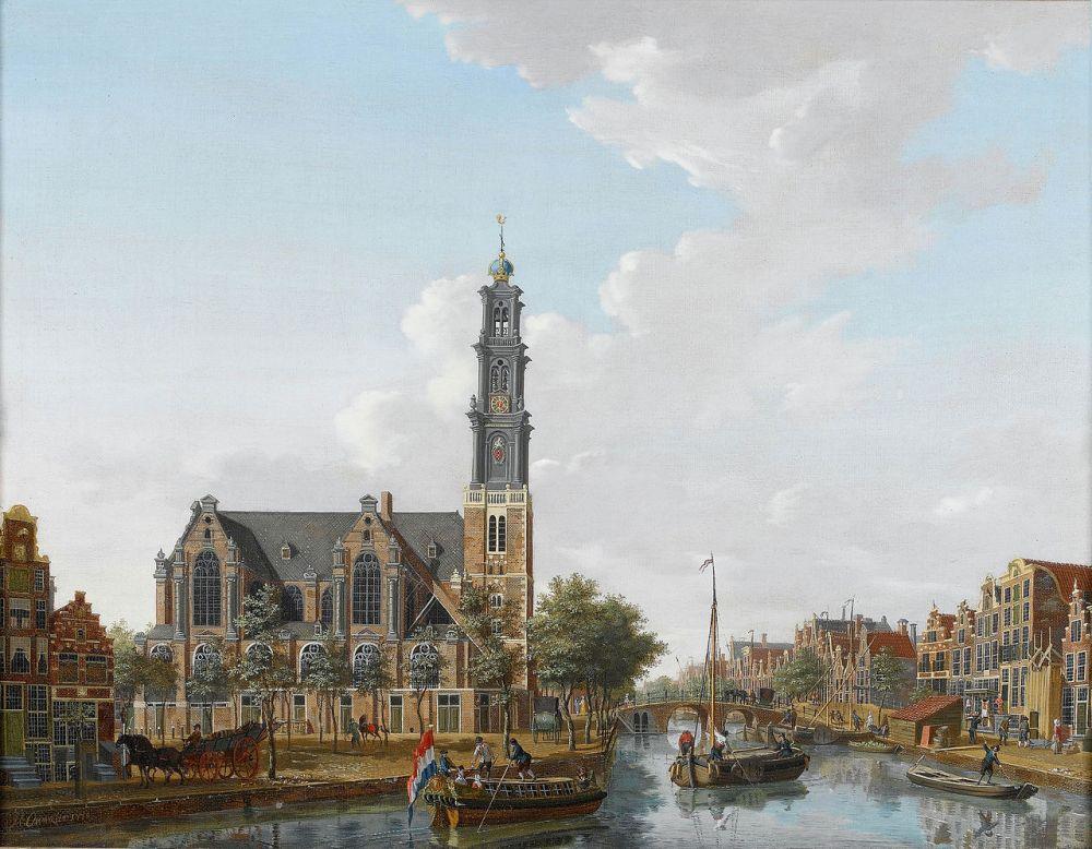 De Westerkerk gezien vanaf de Prinsengracht