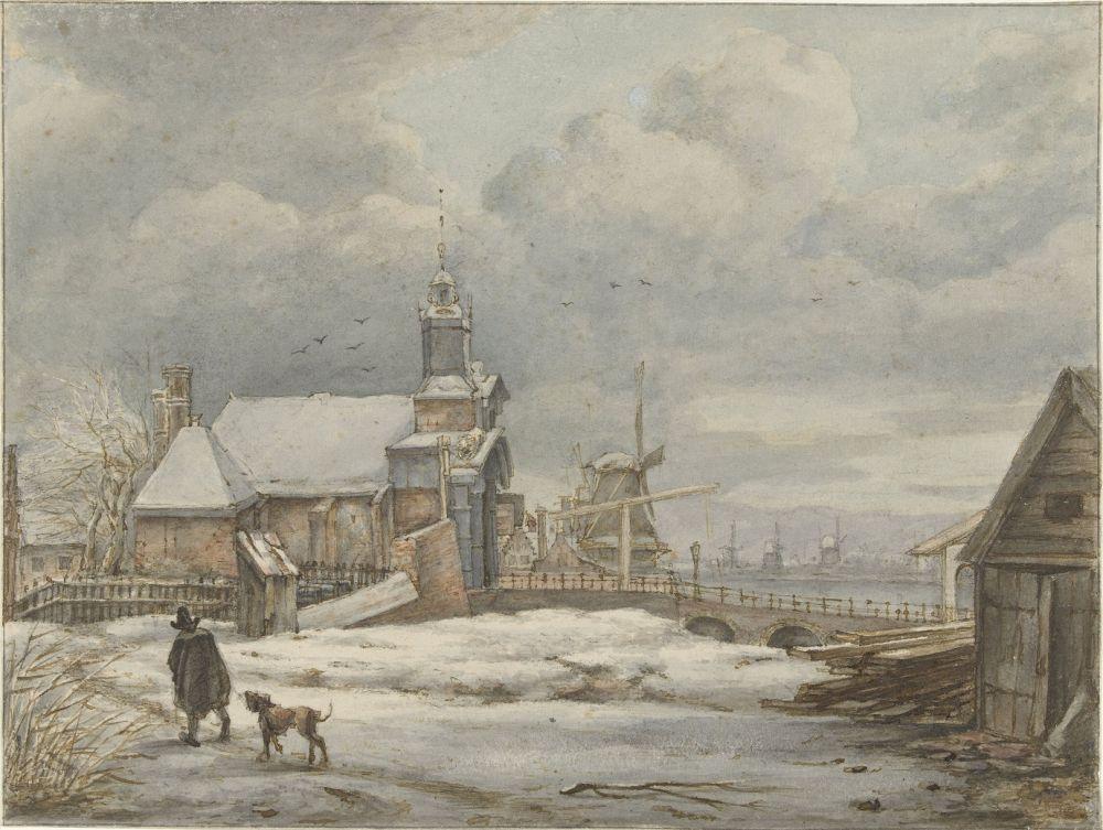 Gezicht op de Haarlemmerpoort te Amsterdam