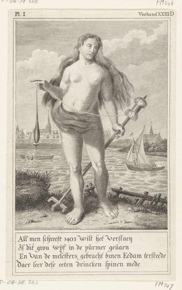 Zeemeermin van Edam, 1403, Anoniem, 1784 - 1786