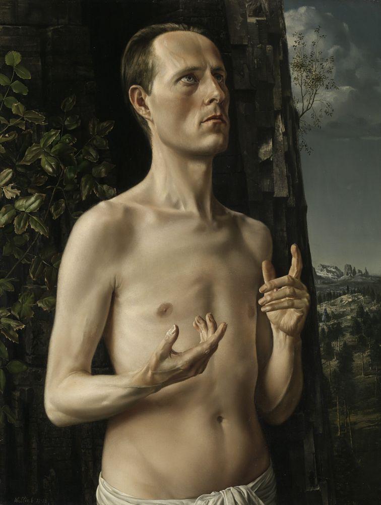Zelfportret van Carel Willink als Johannes
