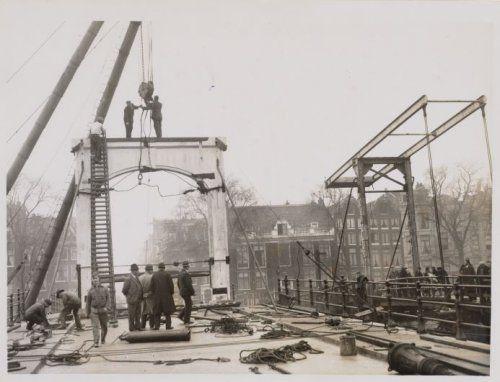 Reconstructie Magere Brug 1934