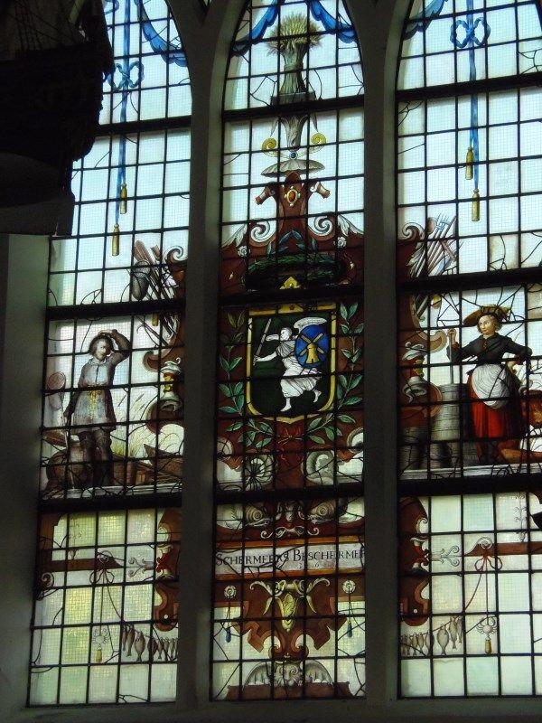 Glas-in-loodraam van de Schermeer 1635