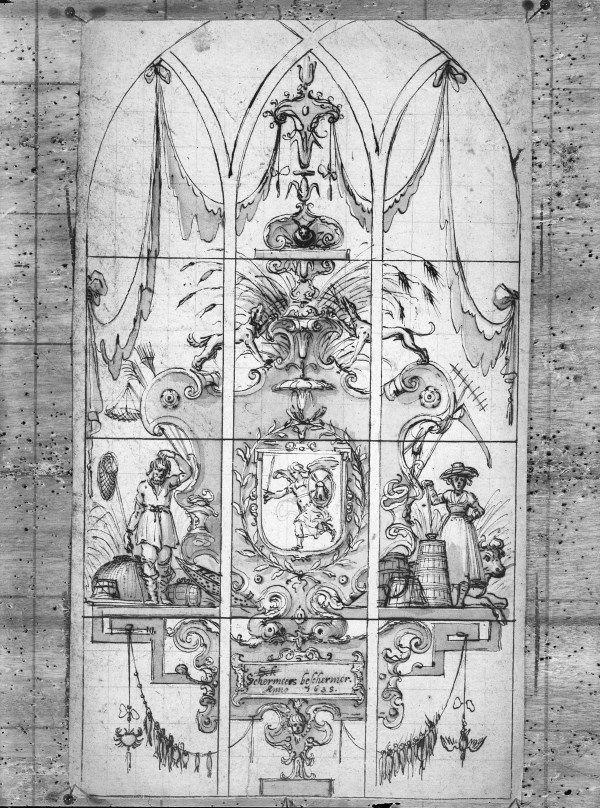 Pieter Holsteyn 'vidimus' glas Schermeer