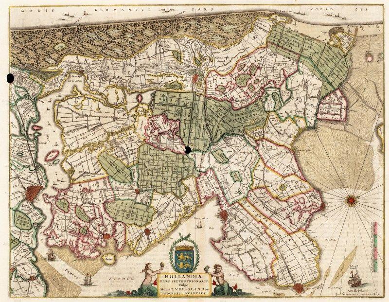 Kaart van Westfriesland en het Noorderkwartier