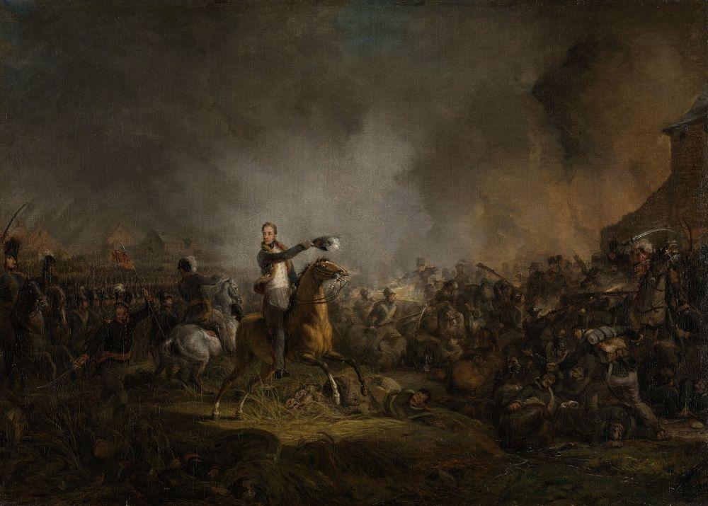 De prins van Oranje bij Quatre-Bras, 16 juni 1815