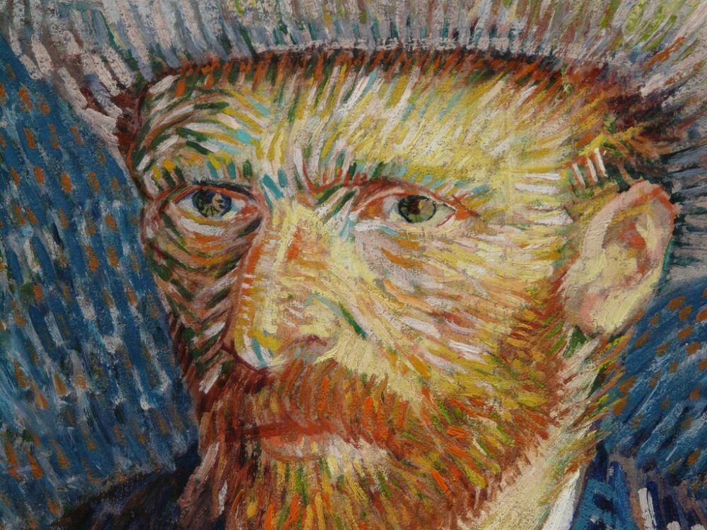 Detail zelfportret Van Gogh